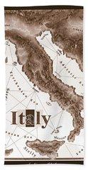Italian Map Bath Towel