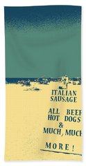 Bath Towel featuring the digital art Italian Sausage by Valerie Reeves