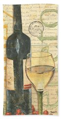 Italian Wine And Grapes 1 Hand Towel by Debbie DeWitt