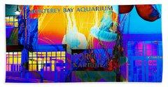 Its Raining Jelly Fish At The Monterey Bay Aquarium 5d25177 Square Bath Towel