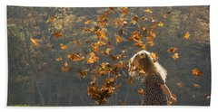 It's Raining Leaves Bath Towel