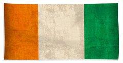 Ivory Coast Cote Divoire Flag Vintage Distressed Finish Bath Towel