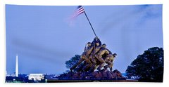 Iwo Jima Memorial At Dusk Hand Towel