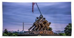 Iwo Jima Monument Hand Towel by David Morefield