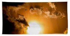 Hand Towel featuring the photograph Jabiru Sunset Cloud by Paul Job