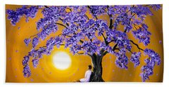 Jacaranda Sunset Meditation Bath Towel
