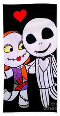 Jack And Sally Bath Towel