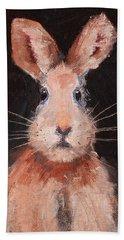 Jack Rabbit Bath Towel by Nancy Merkle