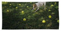 Jack Russell Terrier Tennis Balls Bath Towel