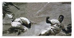 Jackie Robinson Sliding Home Bath Towel