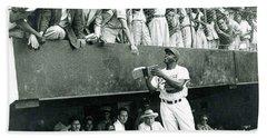 Jackie Robinson Signs Autographs Vintage Baseball Bath Towel