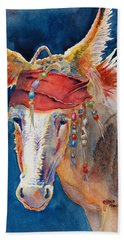 Jack Burro -  Donkey Hand Towel by Deb  Harclerode