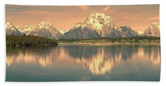 Jackson Lake Sunrise - Grand Teton Hand Towel