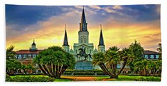 Jackson Square Evening - Paint Hand Towel