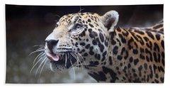Jaguar Sticking Out Tongue Hand Towel