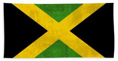 Jamaica Flag Vintage Distressed Finish Bath Towel