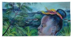Jamaica. Part Two Hand Towel by Anna  Duyunova
