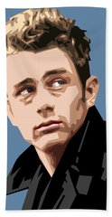 James Dean In Color Hand Towel by Douglas Simonson