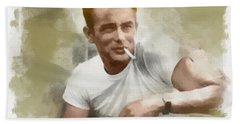 James Dean Hand Towel by Paulette B Wright
