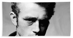 James Dean - Portrait Hand Towel by Paul Tagliamonte