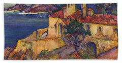 James House Carmel Highlands California By Rowena Meeks Abdy 1887-1945  Hand Towel by California Views Mr Pat Hathaway Archives