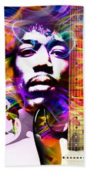 James Marshall Hendrix Bath Towel