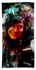 Janis Joplin Bath Towel by Marvin Blaine