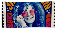Janis Stamp In A Groovy Vibe Hand Towel by Rob Hans