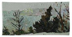 January Grays Bath Towel by Phil Chadwick