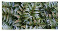 Hand Towel featuring the photograph Japanese Ferns by Kathryn Meyer