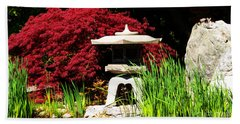 Hand Towel featuring the photograph Japanese Garden by Angela DeFrias