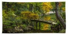 Japanese Garden Hand Towel by Sebastian Musial