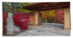 Japanese Main Gate Hand Towel by Sebastian Musial