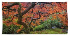 Japanese Maple Tree Bath Towel