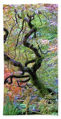 Bath Towel featuring the photograph Japanese Maple by Wendy McKennon