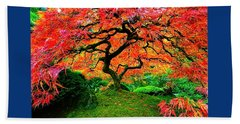 Japanese Red Maple Bath Towel
