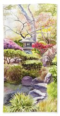 San Francisco Golden Gate Park Japanese Tea Garden  Hand Towel