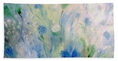 Jardin Bleu Hand Towel by Julie Brugh Riffey
