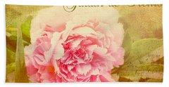 Bath Towel featuring the photograph Jardin De Fleurs by Trina  Ansel