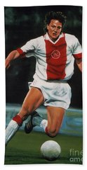 Jari Litmanen Hand Towel by Paul Meijering