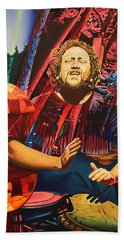 Bath Towel featuring the painting Jason Hann At Horning's Hideout by Joshua Morton
