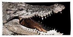 Jaws Hand Towel by Douglas Barnard