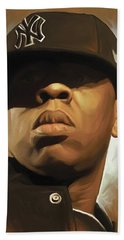 Jay-z Artwork Hand Towel by Sheraz A