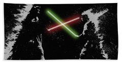 Jedi Duel Hand Towel by George Pedro