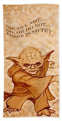 Jedi Yoda Wisdom Bath Towel by Georgeta  Blanaru
