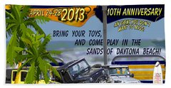 Hand Towel featuring the photograph Jeep Beach 2013 Welcomes All Jeepers by DigiArt Diaries by Vicky B Fuller
