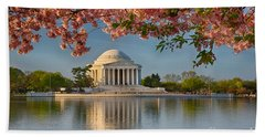 Jefferson Memorial In Spring Hand Towel
