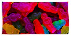 Bath Towel featuring the photograph Jelly Baby Abstract 4 by Mark Blauhoefer