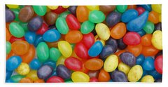 Bath Towel featuring the digital art Jelly Beans by Ron Harpham