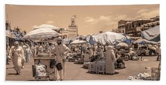 Jemaa El Fna Market In Marrakech Hand Towel